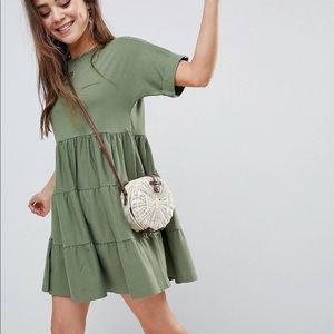 ASOS cotton smock dress with panels